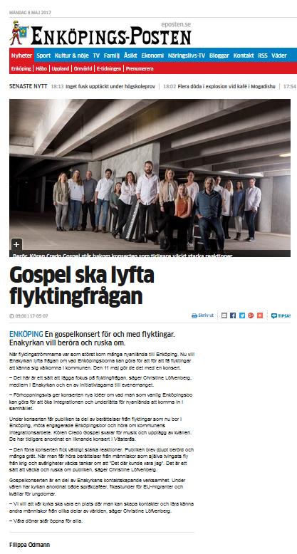 Credo_Gospel_När_livet_vänder_Enköping